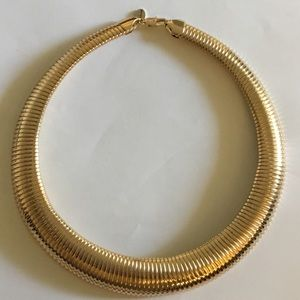 Jewelry - New 14KYGP 12mm Wide Omega Cleopatra Necklace